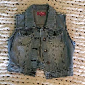 brand new cropped jean jacket